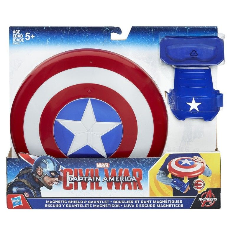 Capitan America Civil War - Escudo y Guante Magnetico