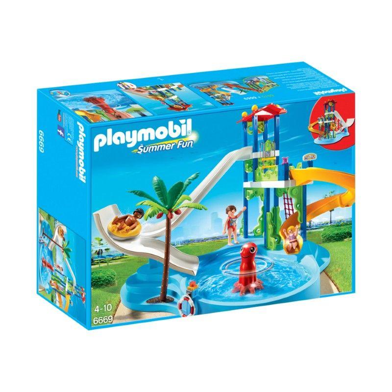 Playmobil - Parque Acuático con Toboganes