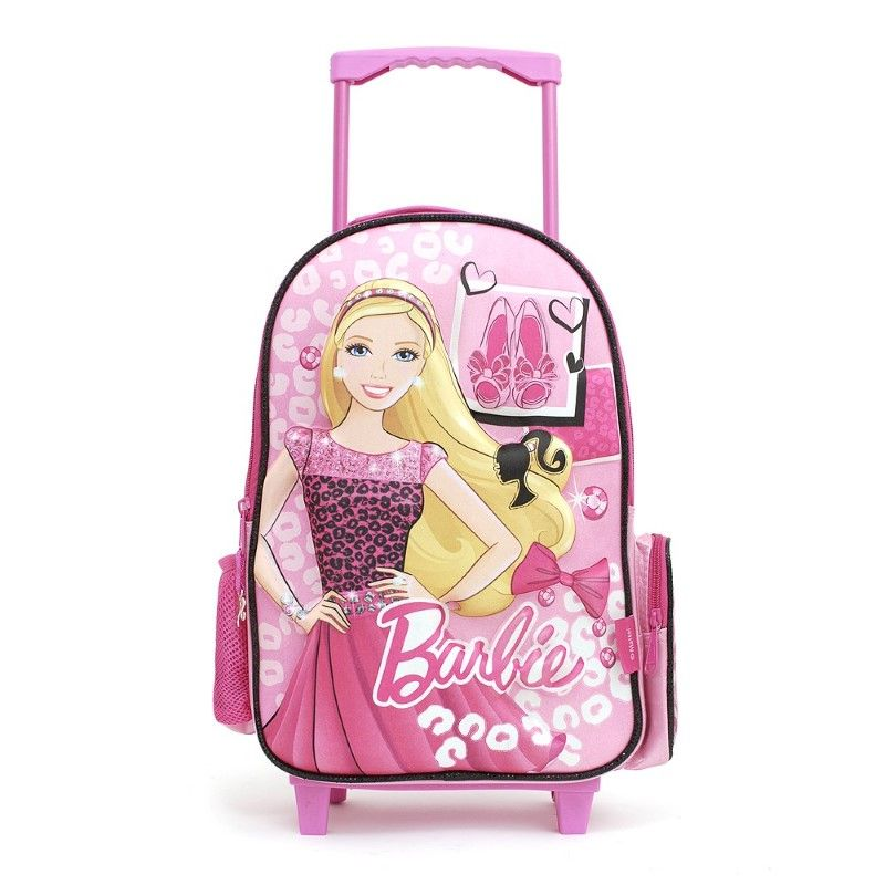 Barbie - Mochila 35 cm con Carro y Relieve