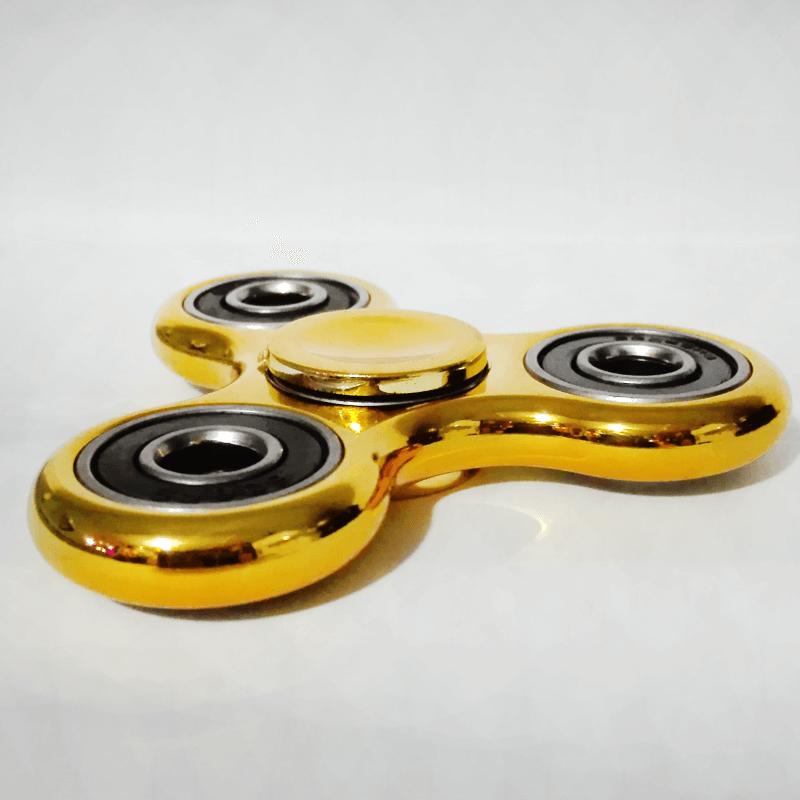 Fidget Spinner - Dorado Metalizado - Toy Store