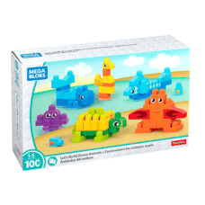 Fisher Price - Mega Bloks Animales del Océano 100 Pcs