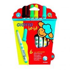 Giotto Be-bé - Marcadores de Colores Lavables x6 unidades