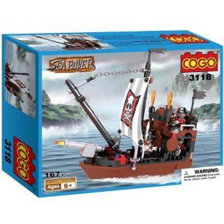 Cogo - Barco Pirata con Accesorios 167 pcs