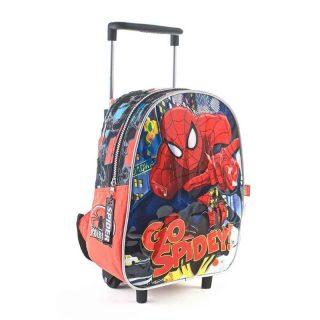 Spiderman - Mochila con Carro 30 cm (negra)