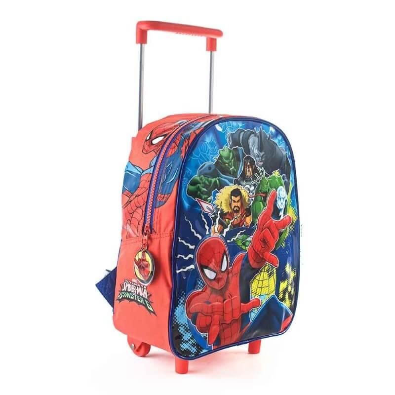 Spiderman - Mochila con Carro 30 cm (roja)