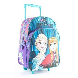 Frozen - Mochila con Carro 40 cm Anna y Elsa Frozen (Celeste)