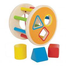 Hape - Rueda con Figuras de Encastre 4 piezas