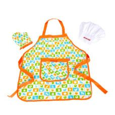 Delantal, Gorro y Manopla Mini Chef - Hape