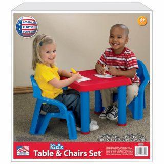 Mesa con dos sillas American Plastic