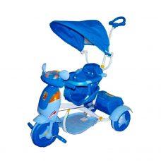 Triciclo Scooter con Capota, Sonidos y Luces (Azul)
