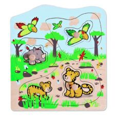 Puzzle Tirador Safari 7 piezas - Hape