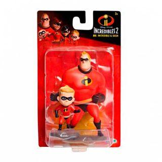 Mr. Increíble y Dash Figuras - Los Increíbles 2