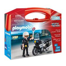Playmobil 5648 - Maletin Policia con Moto