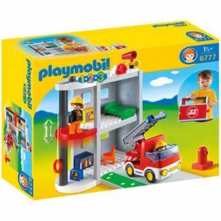 Playmobil 6777 - 123 Camión De Bomberos Y Estación