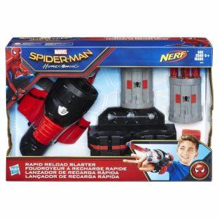 Nerf - Lanzador de Recarga Rápida Spiderman