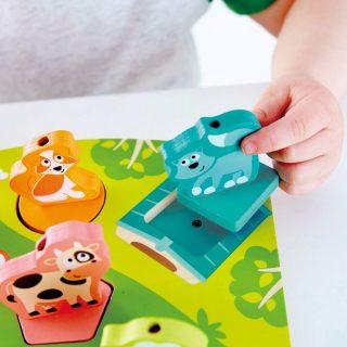 Hape - Puzzle con Sonidos de Granja en madera
