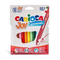 Marcadores Finos Joy x12 Colores - Carioca