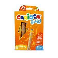 Lápiz 3 en 1, Lápiz, Cera y Acuarela x6 - Carioca Baby