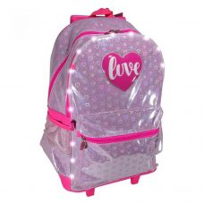 Mochila Love con Carro y Luces LED 45 cm - Footy