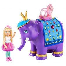Muñeca Chelsea y Rey Elefante - Barbie